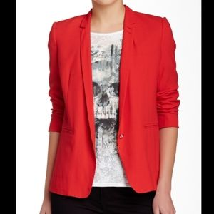The Kooples The Very Fine 1-Button Blazer Jacket